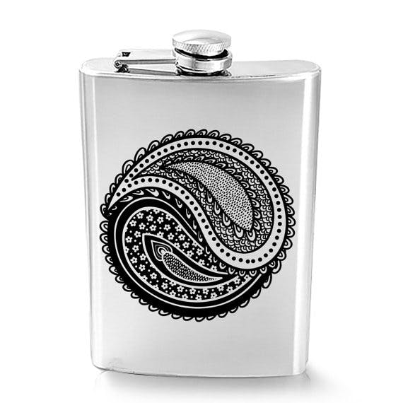8 oz Stainless Steel Hip Liquor Flask  Flask sold by CLWstudio