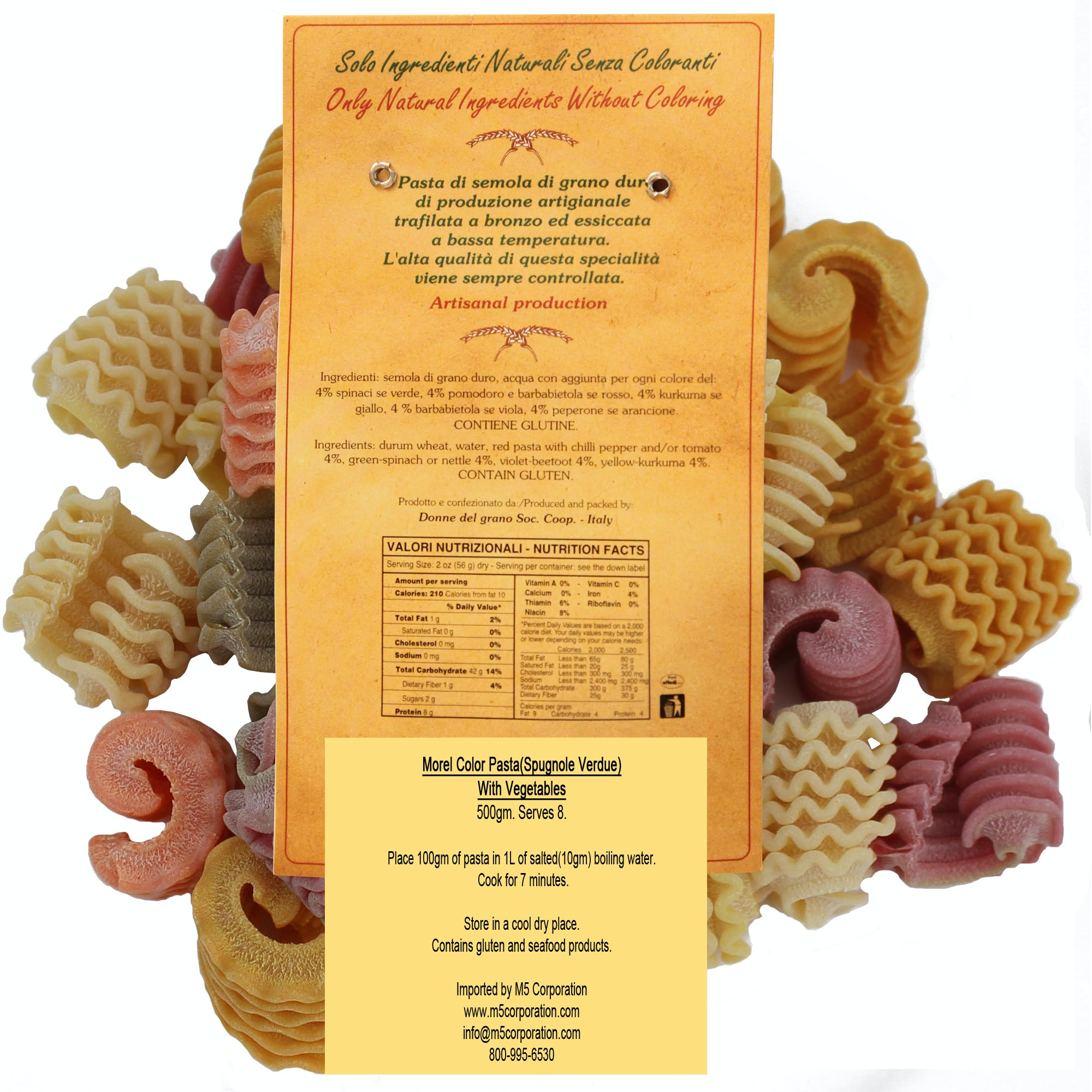 "Morels ""Spugnole"" Colored Pasta - sold by M5 Corporation"