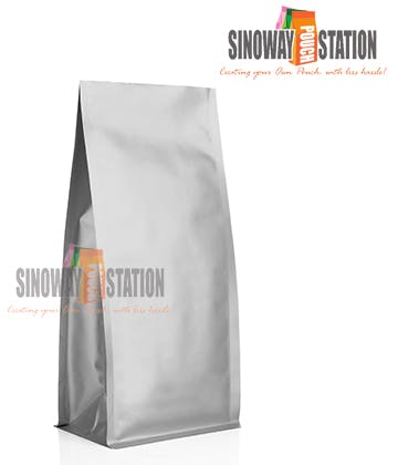 Block Bottom Pouch Gusseted pouch sold by sinowaypouchstation.com,LLC
