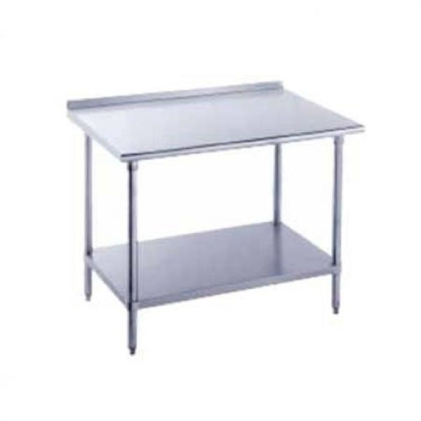 "24"" x 24"" Stainless Work Table w/ Backsplash & Undershelf"