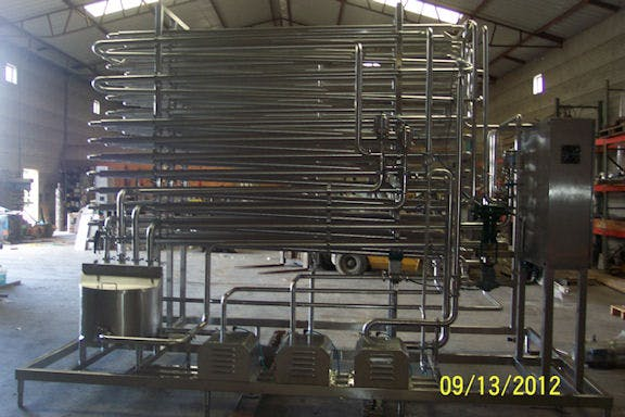 1,000 GPH Tubular HTST - New Tubular HTST Continious Flow Pasteurizer for juice or thick product. - sold by Schier Company, Inc.