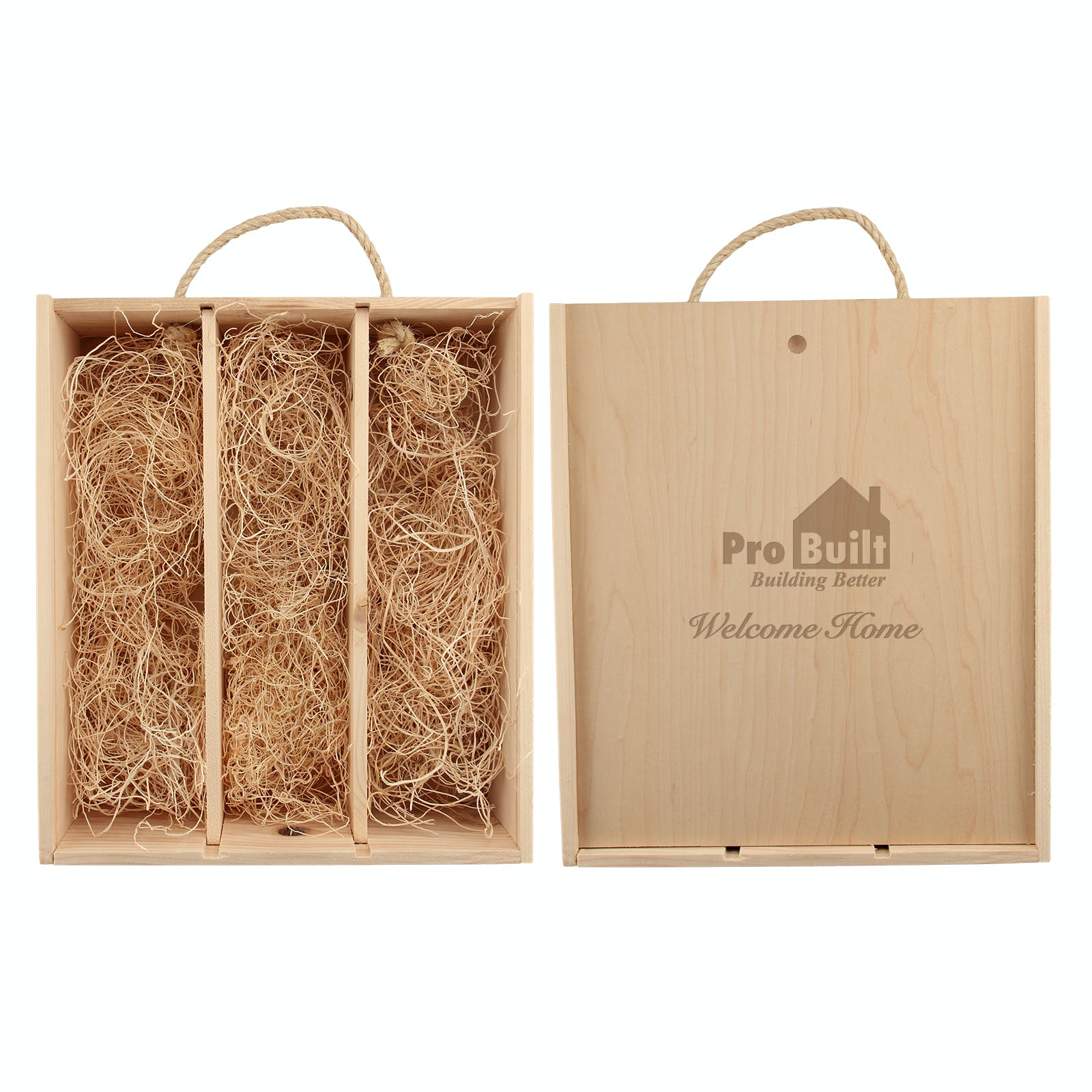 Triple Wood Gift Box (crate) Wine box sold by Etching Expressions