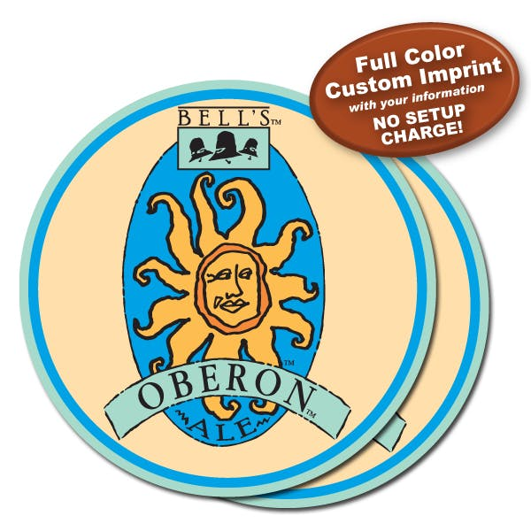 3 1/2 in Round Full Color Coaster: 2 Sided (40pt.) Drink coaster sold by MicrobrewMarketing.com