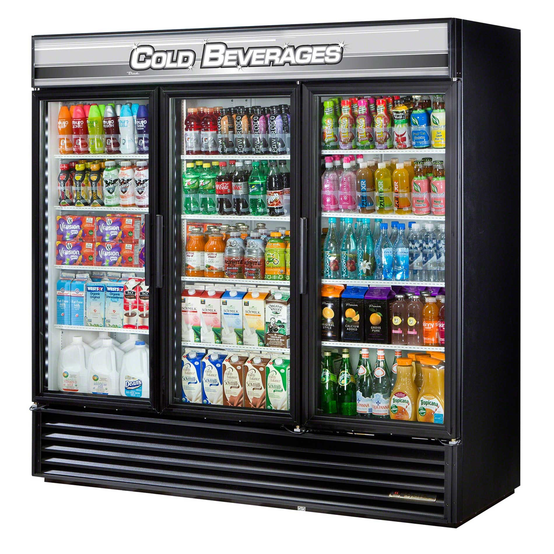 "True - GDM-72-RC-LD 79"" Glass Swing Door Merchandiser Refrigerator LED Commercial refrigerator sold by Food Service Warehouse"