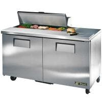 "True TSSU-60-10 - 60"" 10 Bin Sandwich/Salad Prep Table Food prep table sold by Prima Supply"