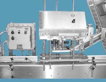 NT-IL-EXP Automatic Inline – Hazardous Location - Automatic Capping Machine - sold by Inline Filling Systems
