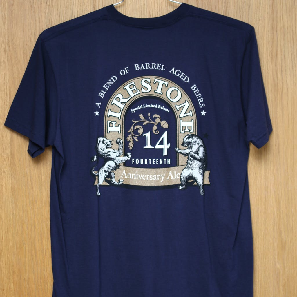 Ringspun cotton tee - Firestone Walker 14 anniv Promotional shirt sold by Brewery Outfitters