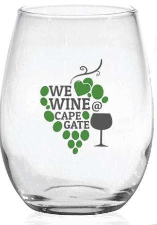 15 Oz. Stemless White Wine Glass Wine glass sold by Custom H2Oh!