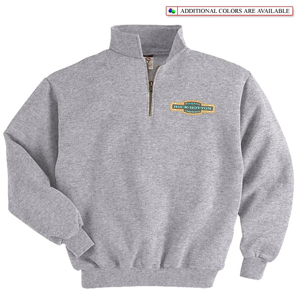 Jerzees Quarter-Zip Pullover Promotional apparel sold by MicrobrewMarketing.com
