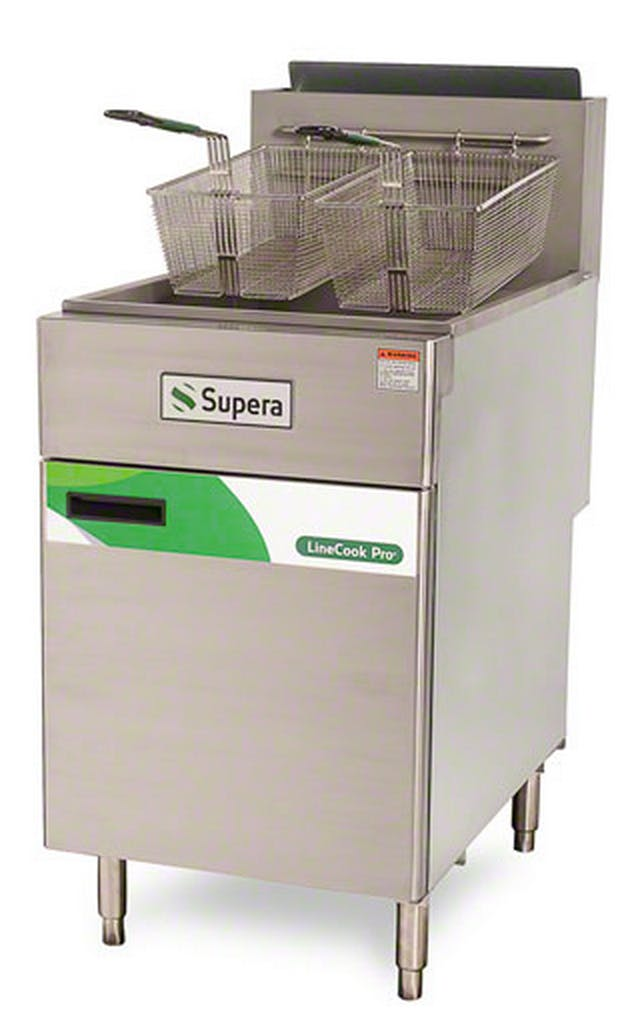 Supera (LCF5T-LP-1) - LineCook Pro 75 Lb. Liquid Propane Fryer Commercial fryer sold by Food Service Warehouse