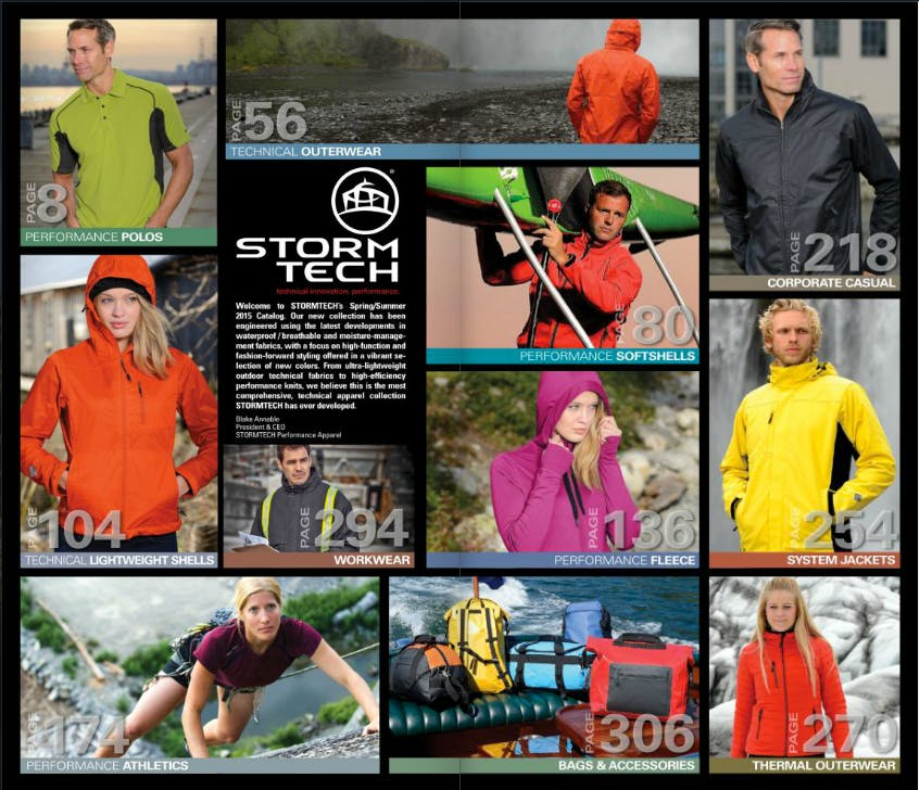 Stormtech Clothing Promotional apparel sold by Luscan Group
