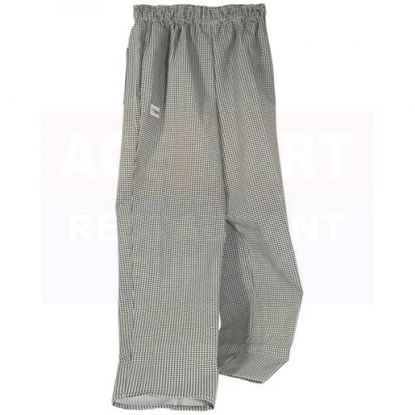 Small Black & White Check Baggy Chef Pants