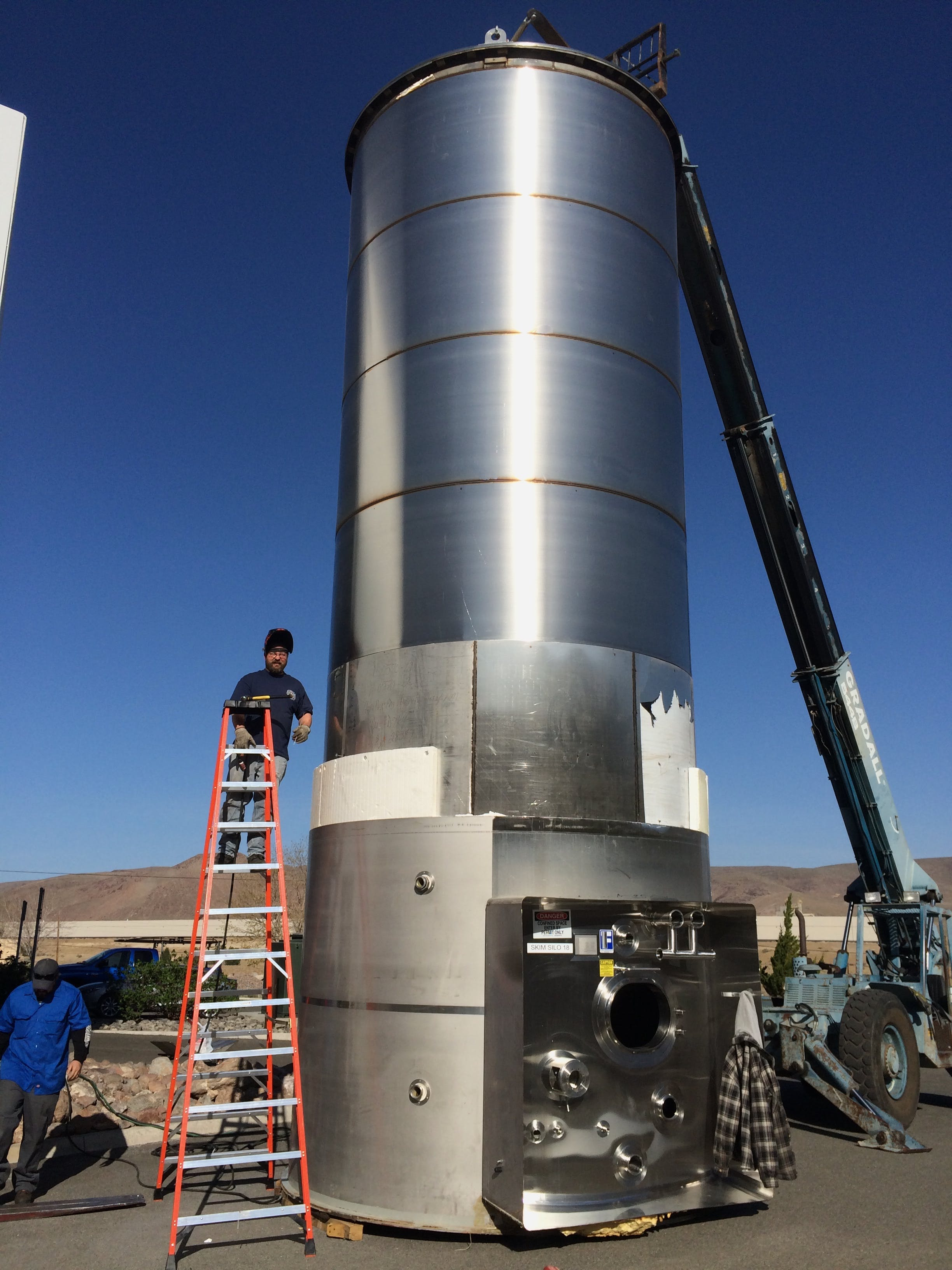 30,000 gallon Dairy Tank inprogress Dairy tank sold by A-Z Stainless