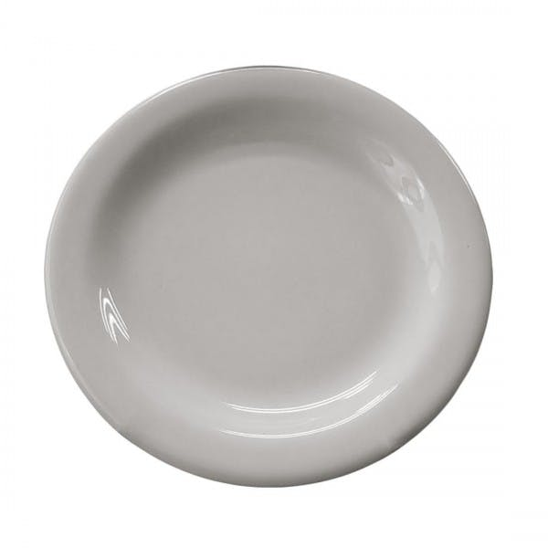 "5-1/2"" White China Narrow Rim Bread Plate"
