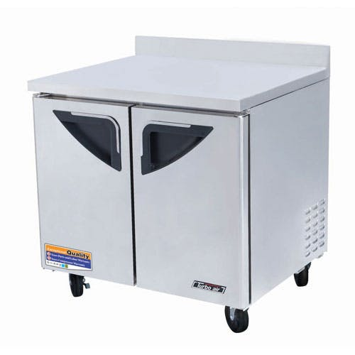 "Turbo Air - TWR-36SD 36"" Worktop Refrigerator – Super Deluxe Series Commercial refrigerator sold by Food Service Warehouse"