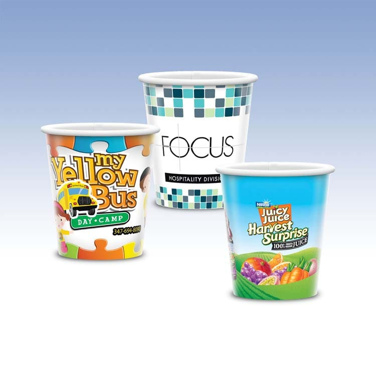 9oz-Heavy Duty Paper Cold Cup-Hi-Definition Full Color Paper packaging sold by Custom H2Oh!