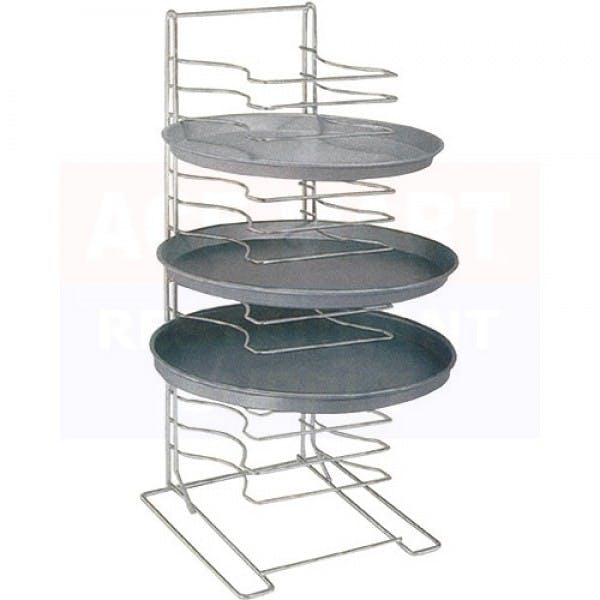 15 Shelf Stainless Pizza Pan Rack