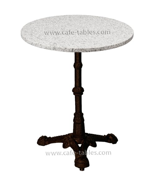 Granite Or Marble Table Top With Vintage Table Base
