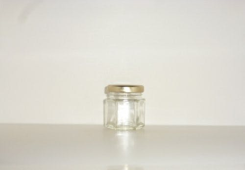 45ml Hex Jar - Hex glass jars - sold by Cape Bottle Company, Inc.