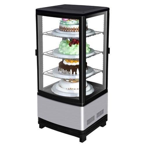 "Turbo Air - CRT-77-2R 17"" Glass Door Diamond Show Case Merchandiser Commercial refrigerator sold by Food Service Warehouse"