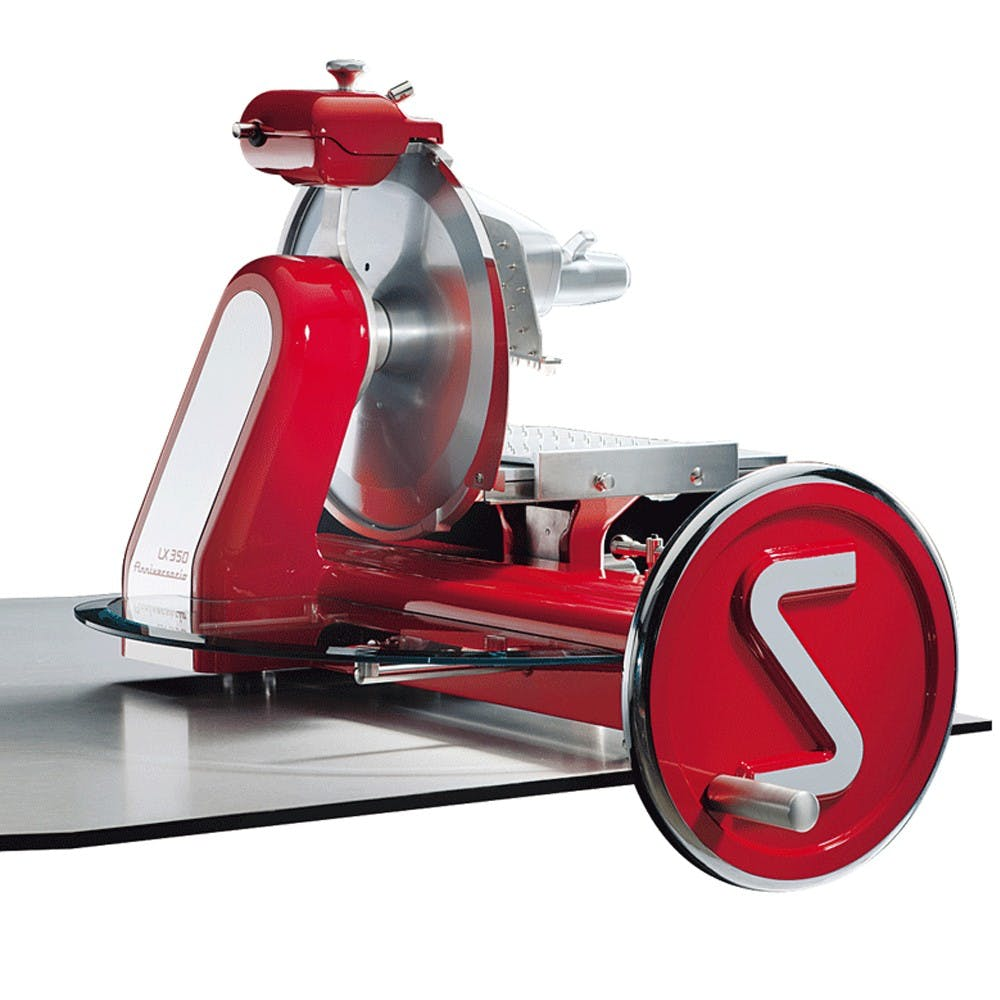 "Eurodib Anniversario 350 | Sirman Flywheel Slicer (14"" Blade) Meat slicer sold by Mission Restaurant Supply"