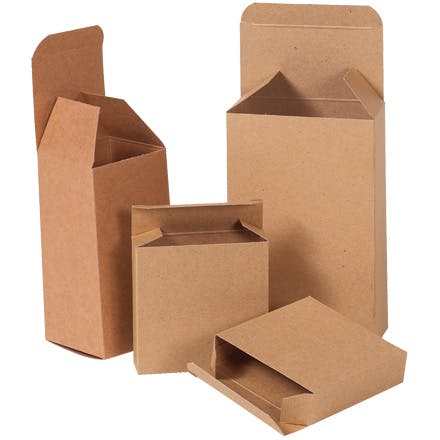 Kraft Reverse Tuck Folding Cartons Kraft packaging sold by Ameripak, Inc.
