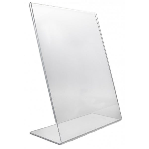 "8-1/2"" x 11"" Slanted Plastic Menu Card Holder"