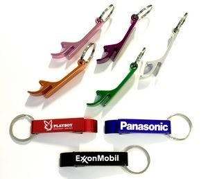 Deluxe Plain Aluminum Can and Bottle Opener w/ Key Ring Bottle opener sold by Ink Splash Promos, LLC