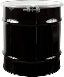 20 Gallon Open Head Steel Drum with Cover and Bolt Ring, UN Rated - sold by The Cary Company