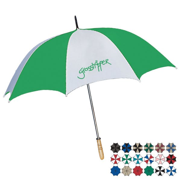 "60"" Arc Golf Umbrella Promotional product sold by MicrobrewMarketing.com"