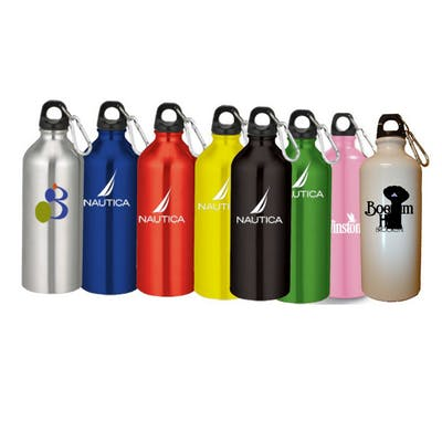 20 Oz. Aluminum Sports Water Bottle w/ Carabiner Aluminum bottle sold by Ink Splash Promos™, LLC