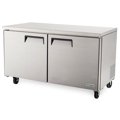 "Supera ( UF2R6-1 ) - 60"" 2-Door Undercounter Freezer Commercial freezer sold by Food Service Warehouse"
