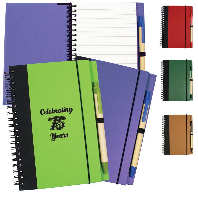 Contrast Paperboard Journal (Item # CBGKU-HFCHX) Recycled and Eco Friendly Promotional Item sold by InkEasy
