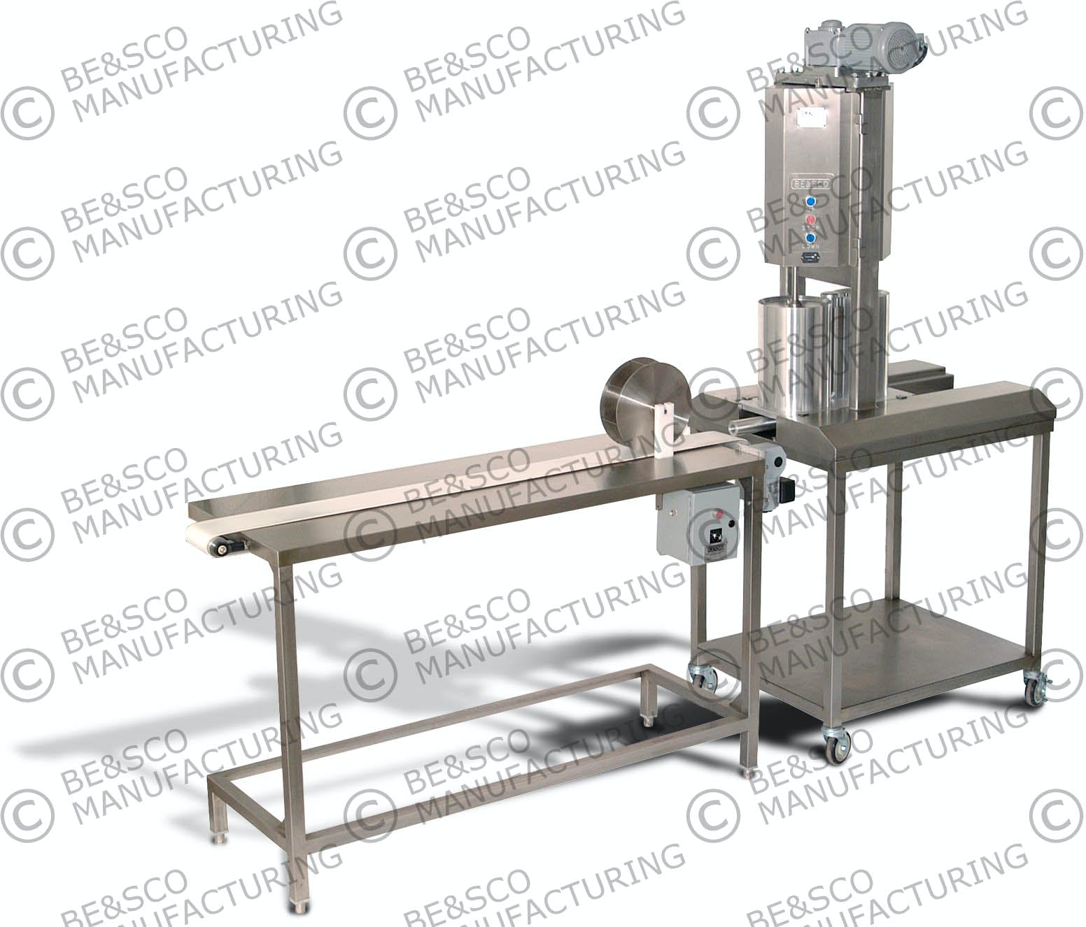 Electric Tamale Machine Tortilla press sold by BE&SCO