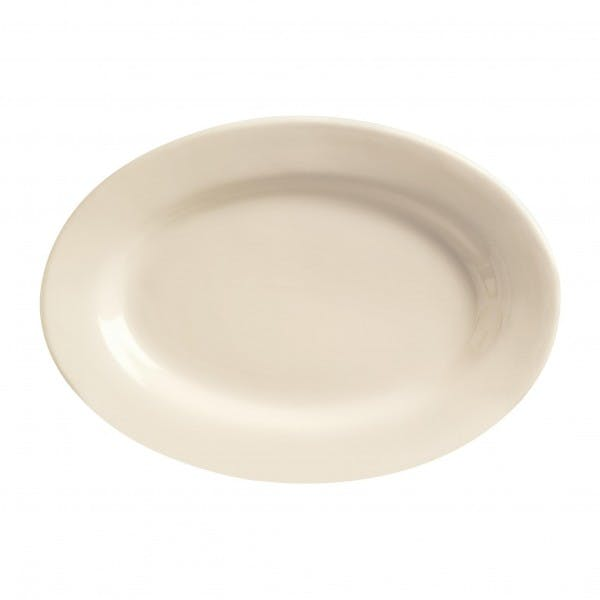 "Princess White 9-3/8"" Cream White Serving Platter"