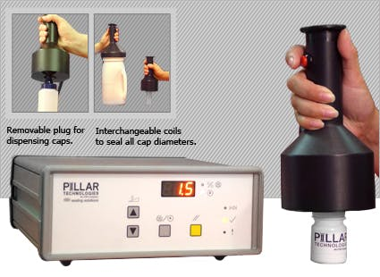 Pillar Technologies - Hand Held Cap Induction Sealer Induction sealer sold by Package Devices LLC