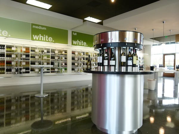 Enoround® ELITE 16-bottle Circular Kiosk Wine dispensing tap sold by Enomatic Wine Serving Systems