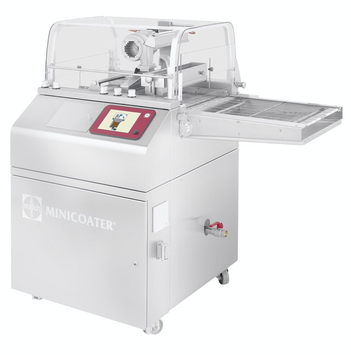 Sollich Minicoater MC 320/420 Chocolate enrober sold by Sollich North America