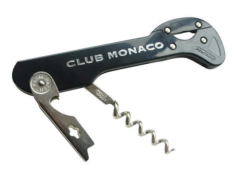 Boomerang Corkscrew, branded with your logo Wine opener sold by WineOpeners.com Inc