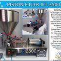 Non-Flammable, Perfume Single Head Piston Filler/ Filling Machine(AIR ONLY) JET-2500 Fills Liquid, Paste, Oil, Gel, Peanut Butter - Filling machine sold by Pro Fill Equipment