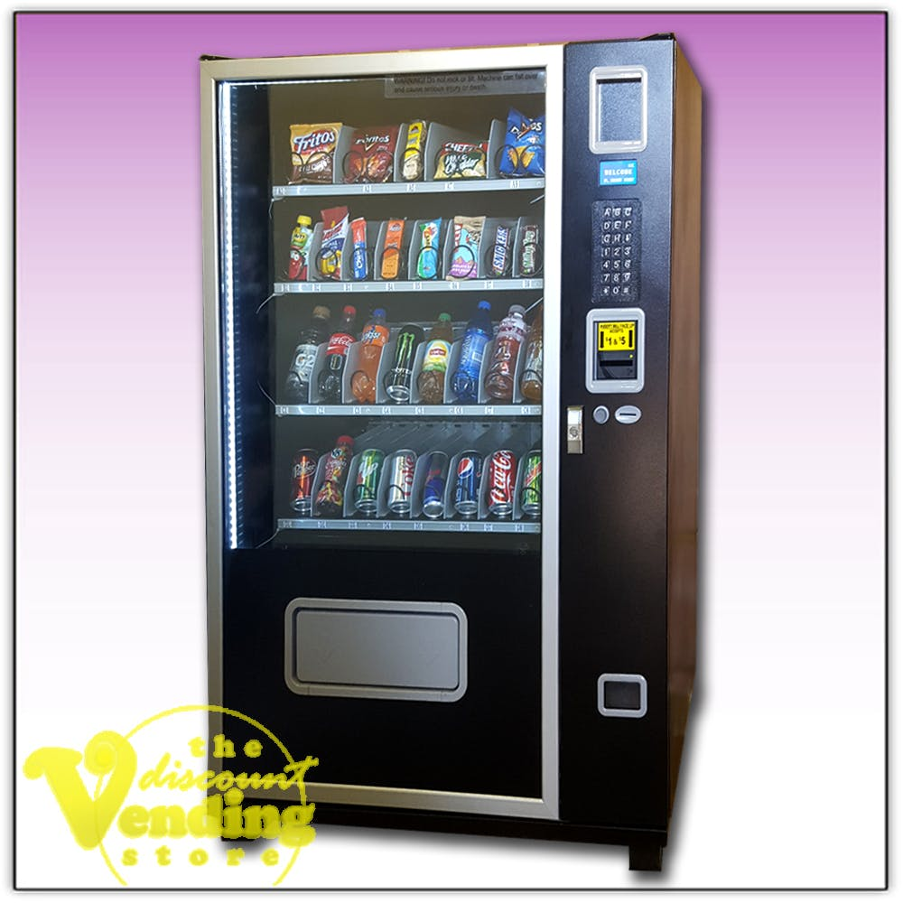Cosmic 1316 Glass Front Combo Vending Machine Vending machine sold by The Discount Vending Store