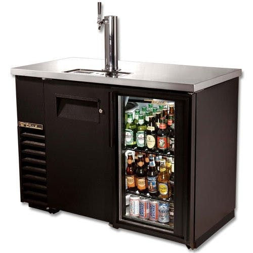 True Manufacturing TDB-24-48-1-G-1 Direct Draw Beer Dispenser/Back Bar, 1 Solid/1 Glass Door, Holds 1 Keg or 245 C Kegerator sold by Mission Restaurant Supply