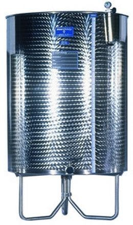 500 Liter, Model SPA500, Marchisio Stainless Steel Tank, Variable Capacity With Flat Bottom And Stand, Stainless Steel (AISI 304) Wine tank sold by Gino Pinto INC