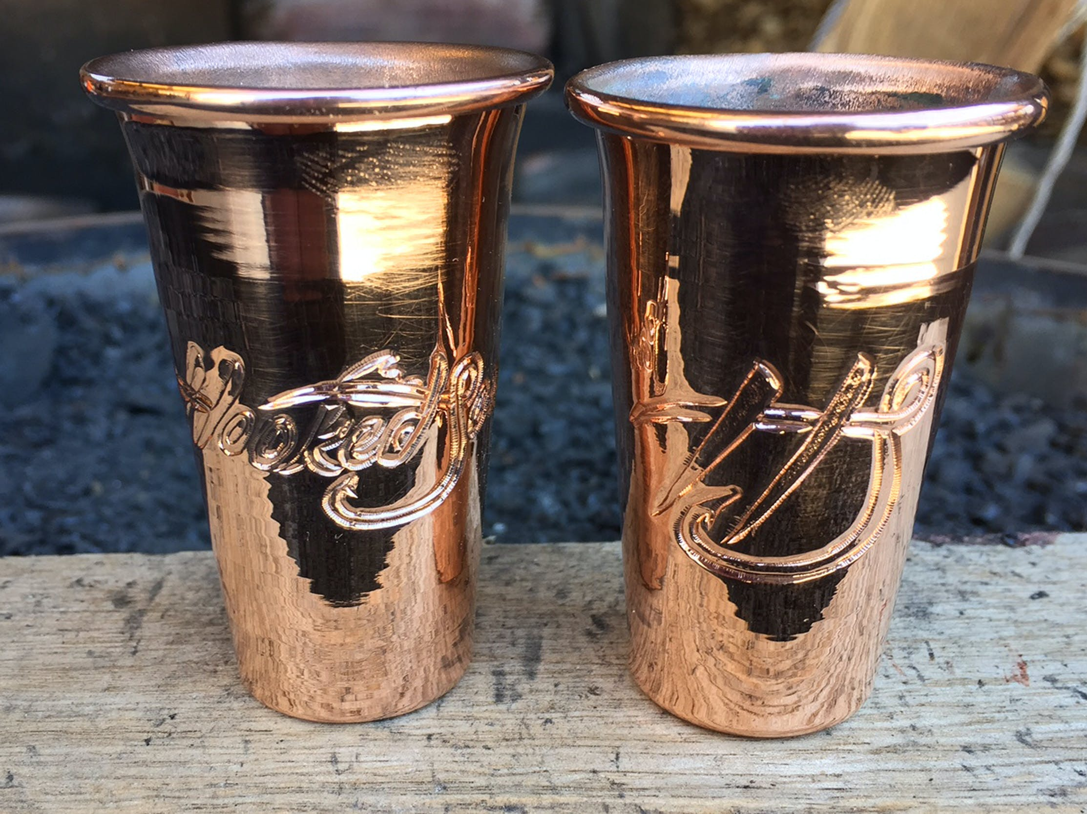 Copper Shooter shot glass Copper mug sold by Hammered Mules