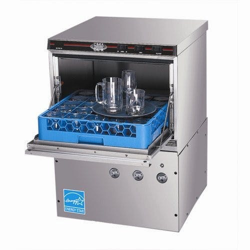 CMA Dishmachines GL-X Glasswasher, Under Bar Type, 30 Racks/Hour, 11-1/4 Inch Door Commercial glass washer sold by Mission Restaurant Supply