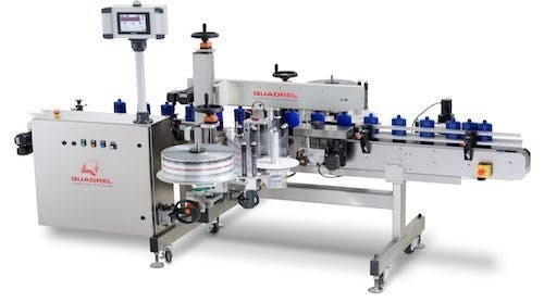 Techline Front/Back Labeler Labeling machine sold by BPM SYSTEMS