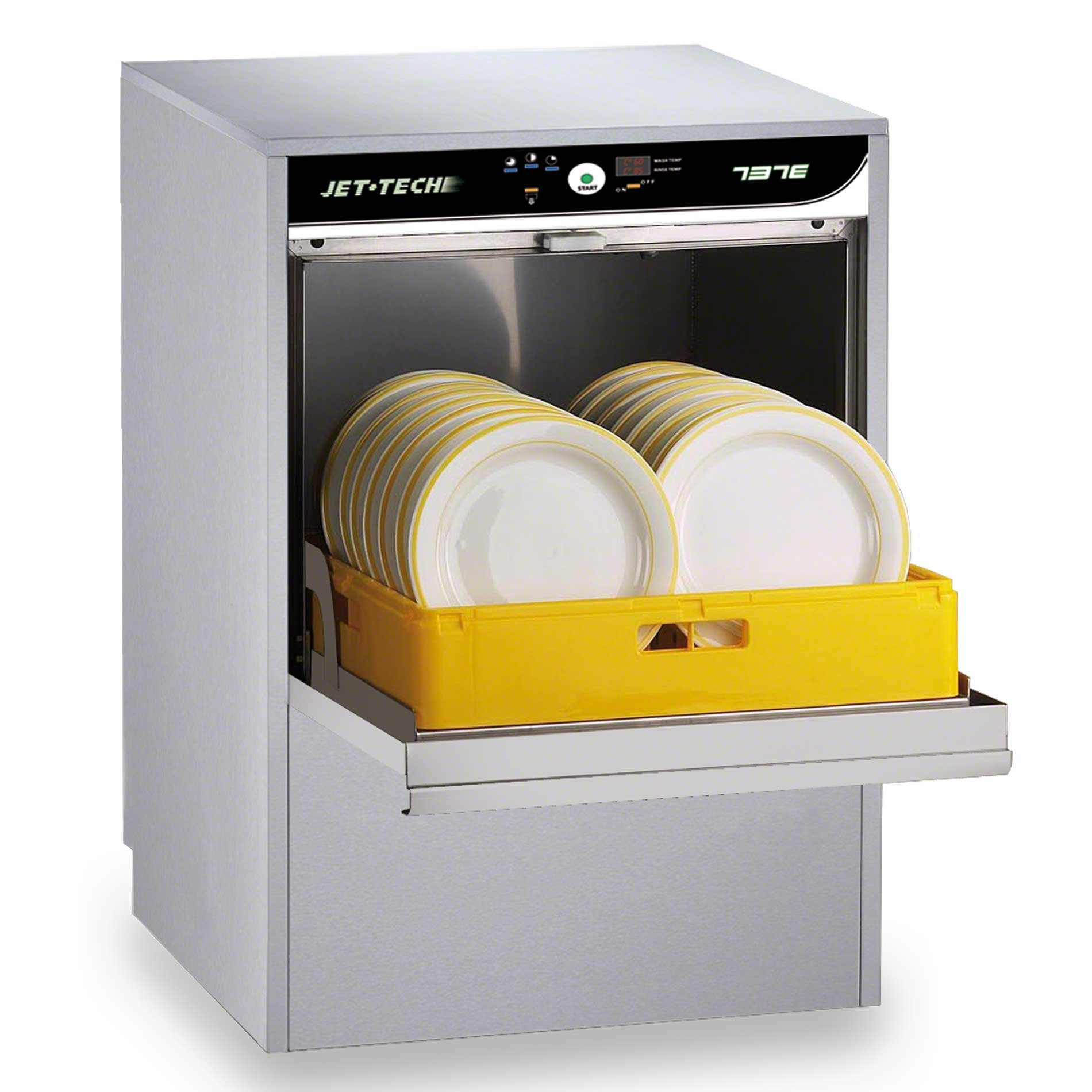 Jet Tech - 737E 30 Rack/Hr High-Temp Deluxe Dishwasher Commercial dishwasher sold by Food Service Warehouse