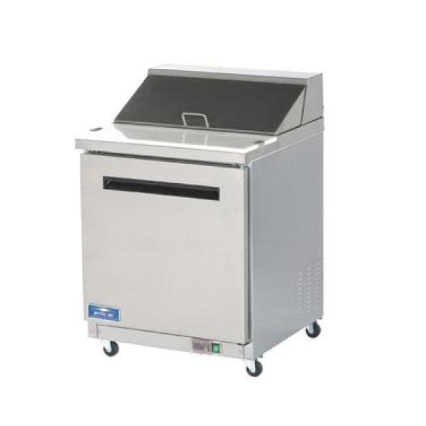 Arctic Air AST28R 1-Door Sandwich/Salad Prep Table - sold by pizzaovens.com