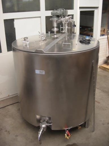 Vat pasteurizer for larger capacities - Vat pasteurizer - sold by Dairy Technology USA