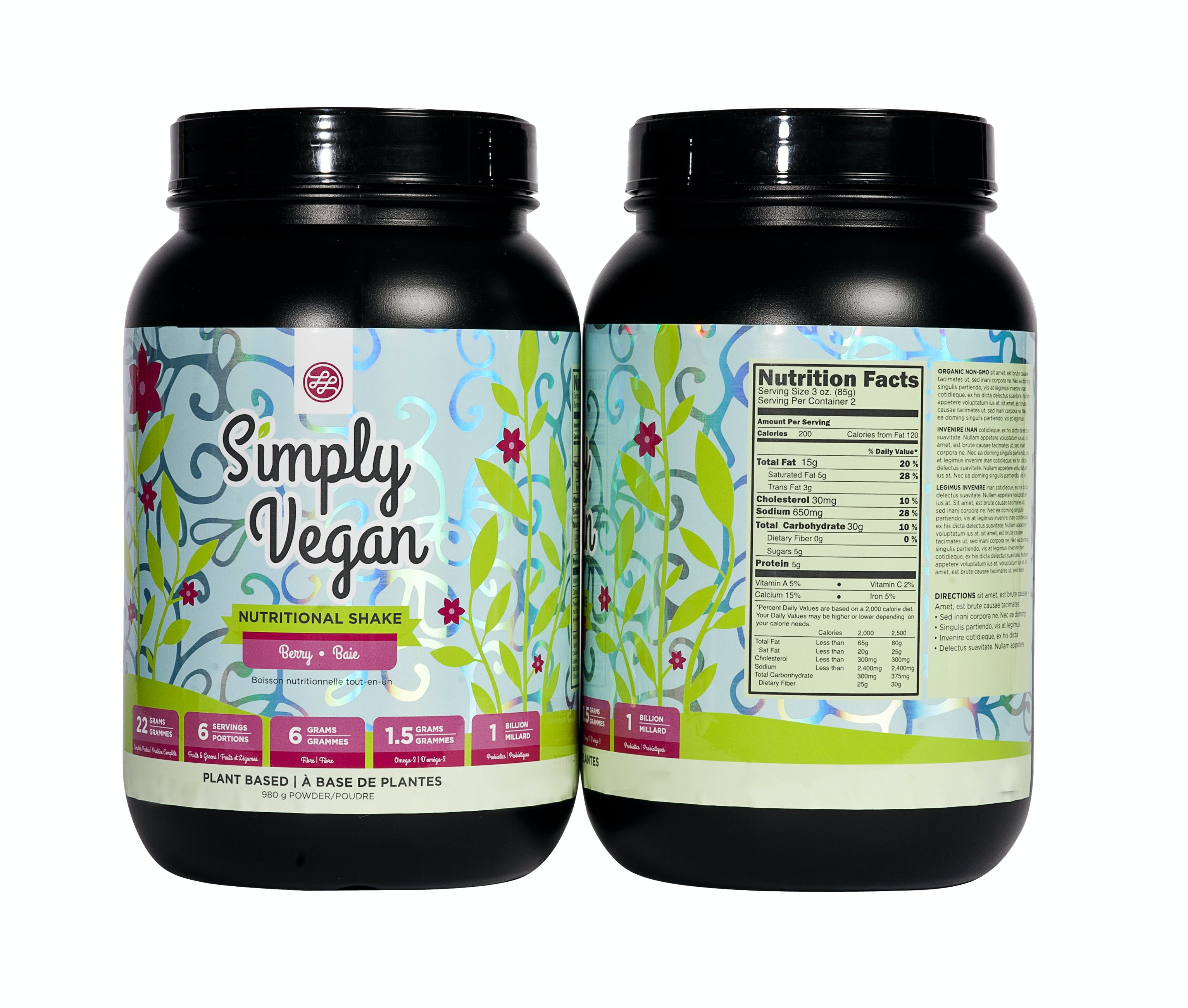 Sports Nutrition Labels - sold by Lorpon Labels
